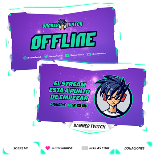 banners y overlays para twitch
